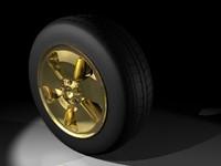3d model tire rim