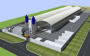 3d model of precast factory building