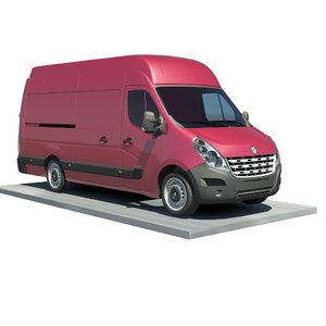 3d renault master l3h3 traction model
