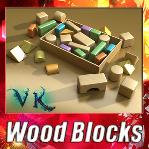3ds max wood blocks