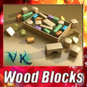 3ds max wood blocks