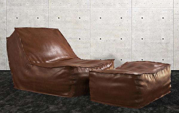 3dsmax zoe loungechair lievore