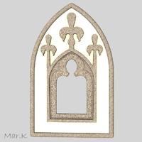 gothic window 3d c4d