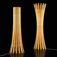wooden floor lamp 04 3d model