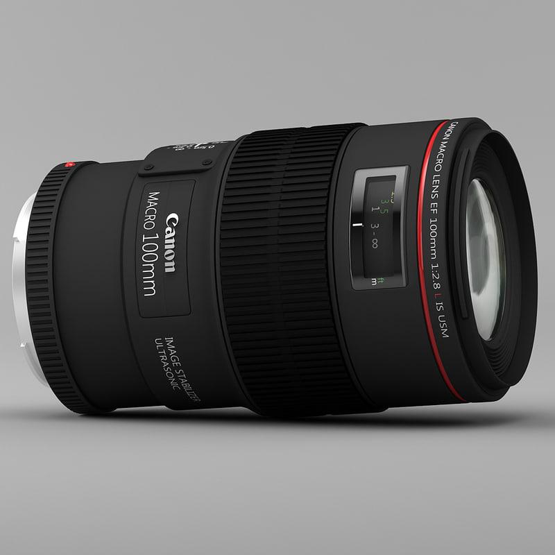 canon macro ef l 3d model