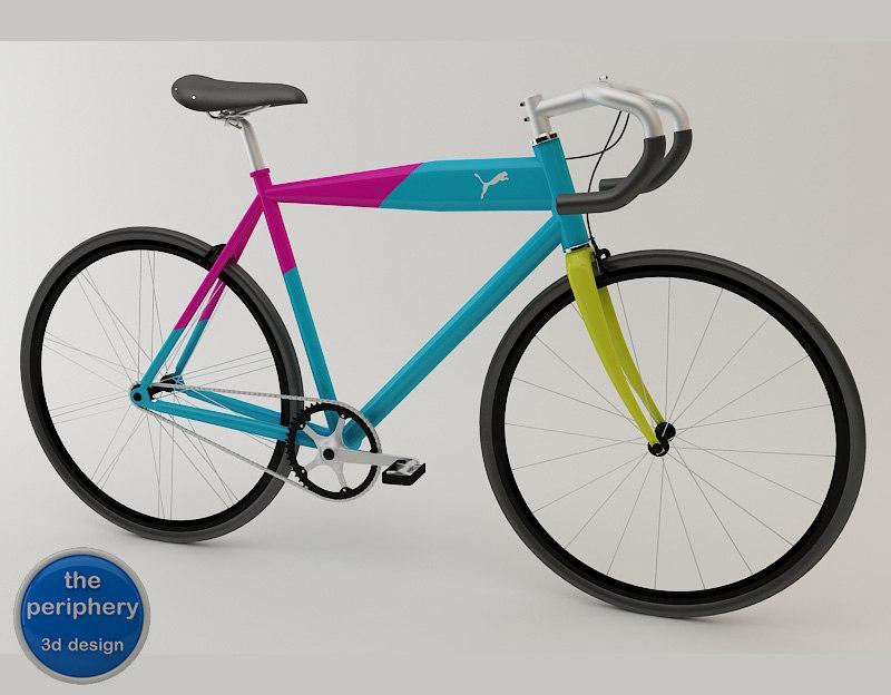3d urban bike - puma model