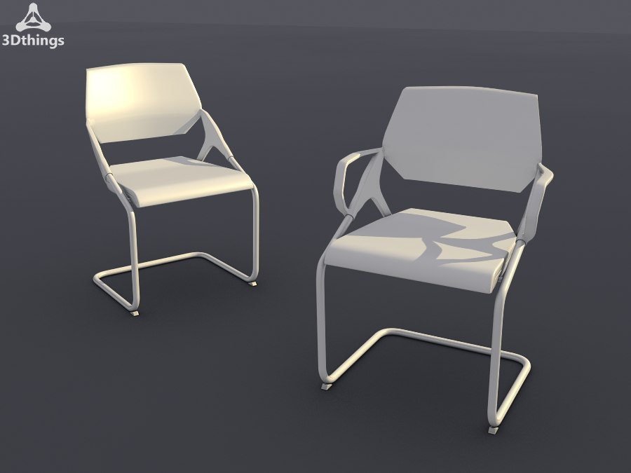 3d conference chair set18 -