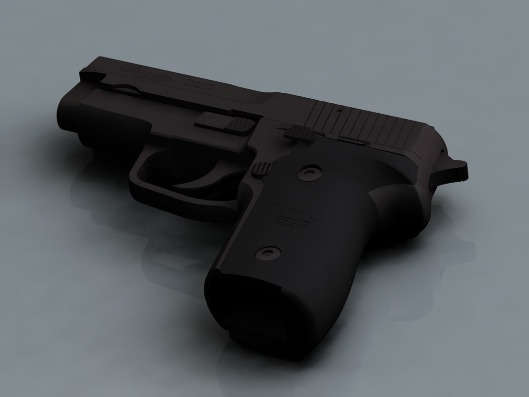 3d model sig p228 pistol