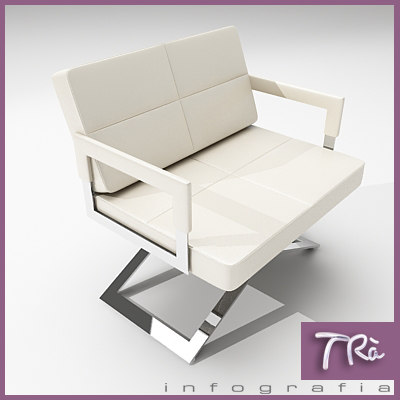living room chairs aster 3d model