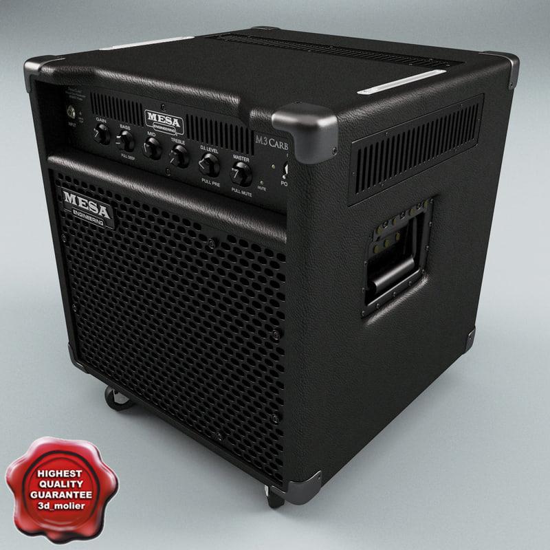 3d model bass combo amps mesa