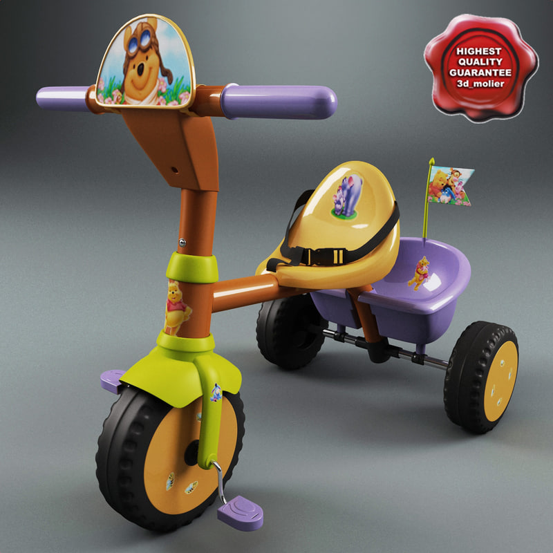 3d children tricycle v4