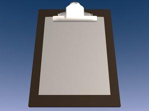 clipboard 3d model