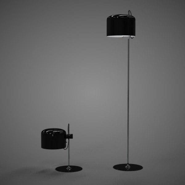 3dsmax joe colombo lamps