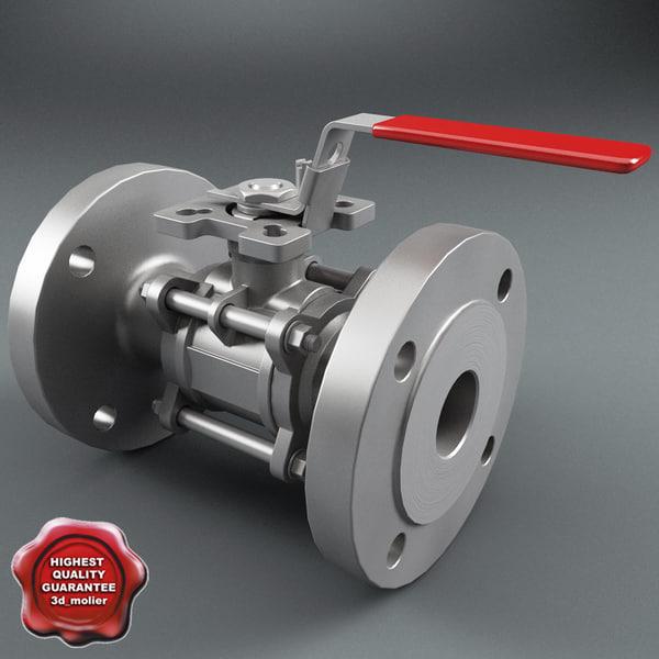 3d flanged ball valve