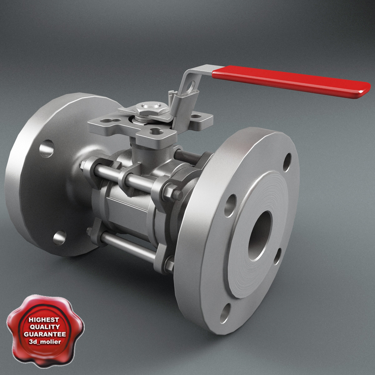 3d flanged ball valve