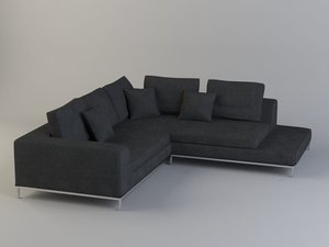 hamilton sofa photorealistic couch 3ds