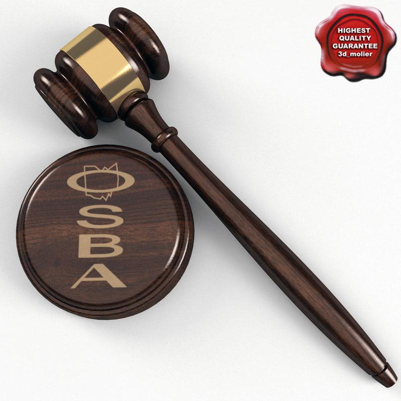 judge hammer 3d max
