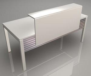 3d model office workstation meta 1