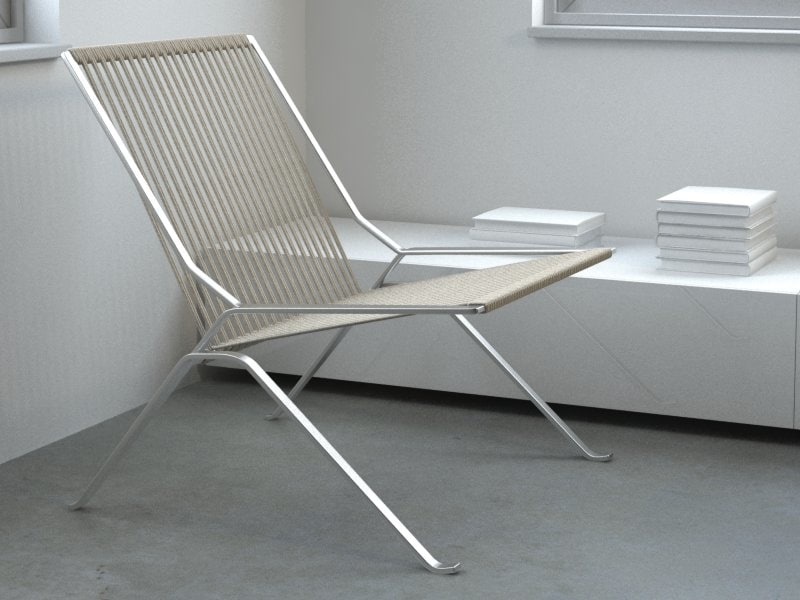 poul kjaerholm lounge chair 3d model