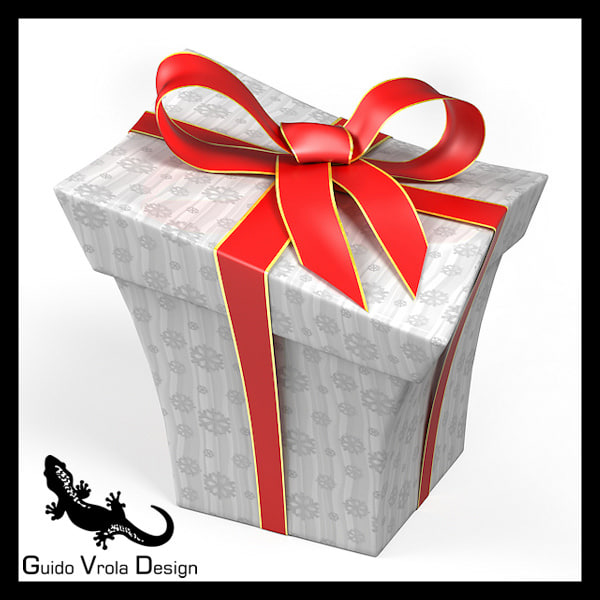 3ds cartoon style gift box