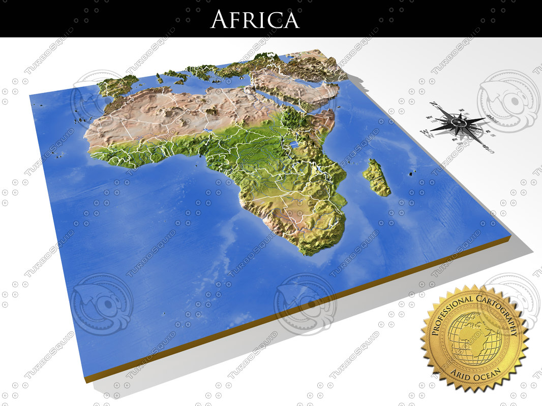 Map Of Africa 3d.3d Map Of Africa Map Of Africa