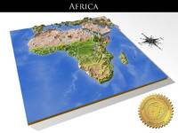 Africa, High resolution 3D relief maps