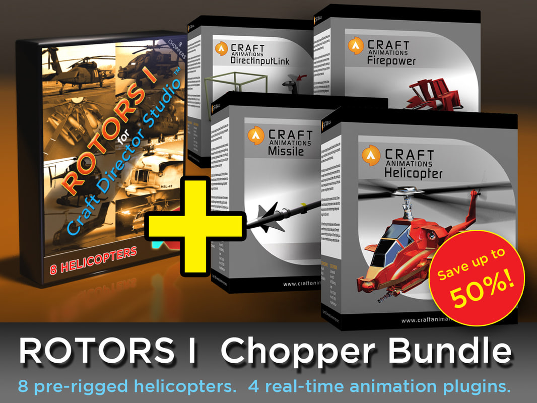 8 helicopter plugins 3d model