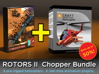 Rotors II - 7 Pre-Rigged Helicopters for Craft Director Studio and 1 Premium Plugin