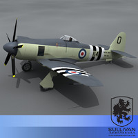 lightwave sea fury plane