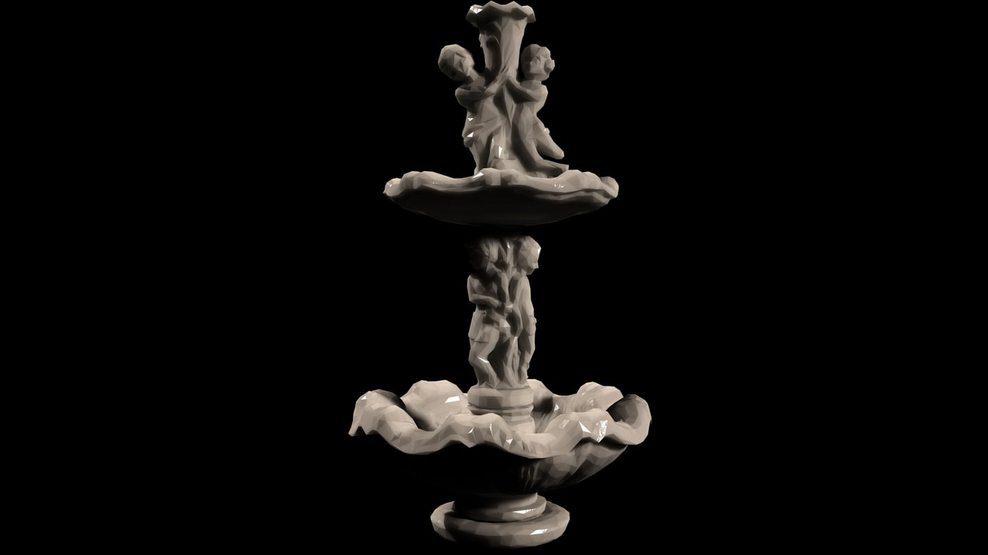 3d model of roman fountain