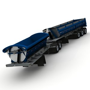 3d model trailers b-train midland tw2500