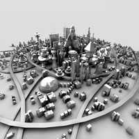 Sci-fi town