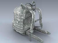 army medium rucksack acu 3d model