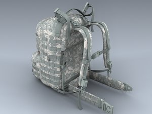 army medium rucksack acu 3d model