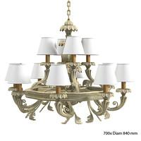 chelini 1143 chandelier 3d obj
