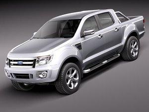 ranger 2012 pickup 3d model