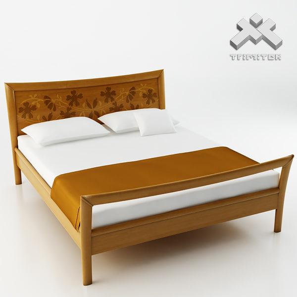 photorealistic bed - grenat 3d model