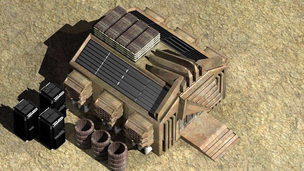 3d model mars container