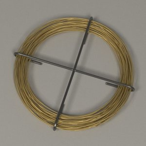 3d metal wire model