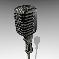 microphone classic 3d model