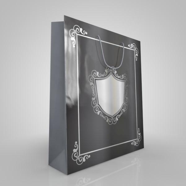 3d model paper bag