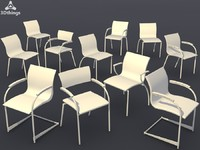 3d conference chair set15 -