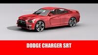3d model dodge charger srt