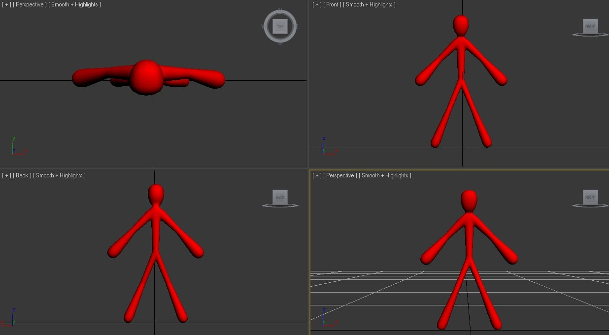 stickman rigged 3d model