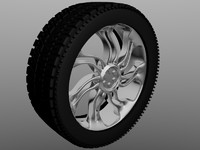 3d simple wheel model