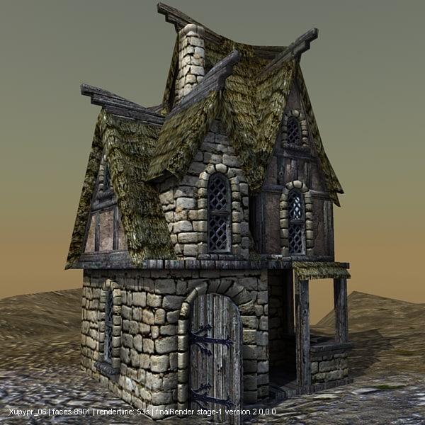 lightwave medieval house