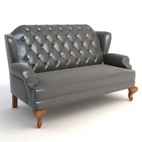 sofa red 3d model