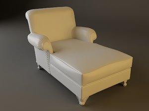 chair chaise white 3d max
