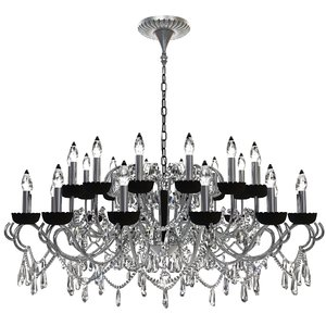 3d 3ds chandelier details