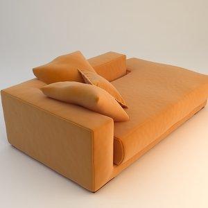 orange daybed sofa max